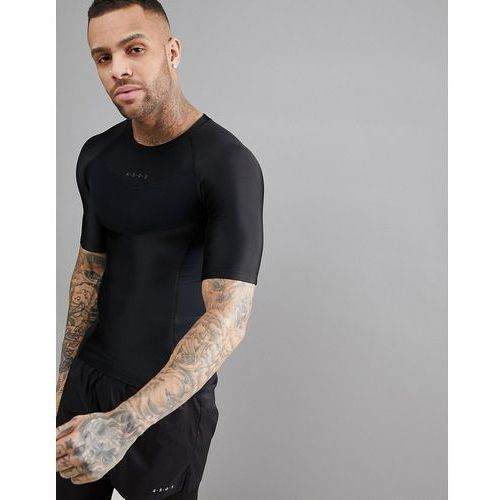 ASOS 4505 t-shirt with compression panels and back print - Black