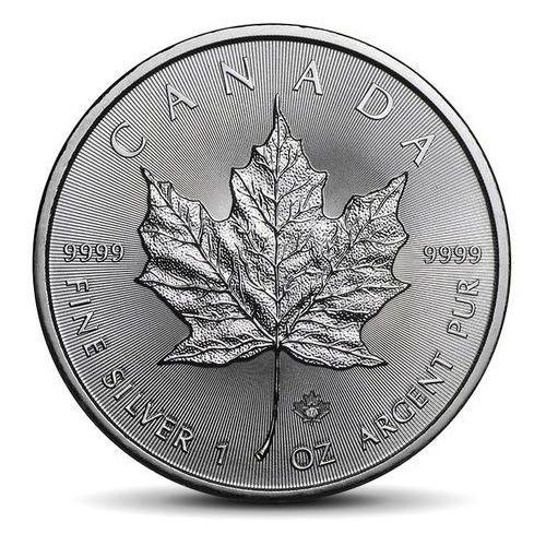 Kanadyjski liść klonowy 1 uncja srebra - 15dni marki Royal canadian mint