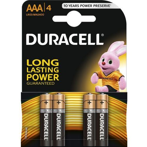 Duracell AAA LR03 / MN2400 1.5 V baterie alkaliczne 4 szt, 50198634PS