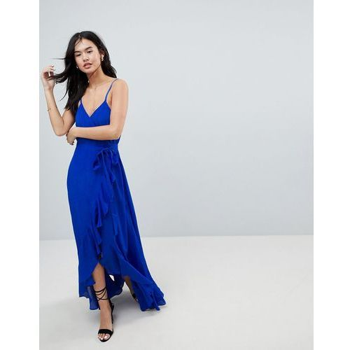 ASOS Ultimate ruffle front cami wrap maxi dress - Blue
