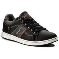 Sneakersy - mp07-17067-01 czarny, Lanetti, 42-44