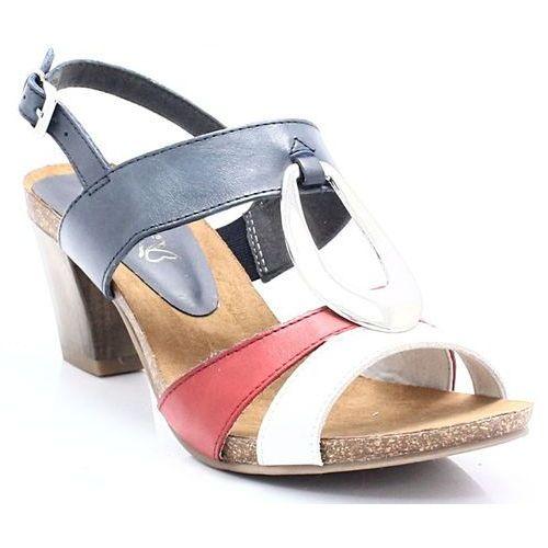 9-28307-20 - kobiece sandały, słupek marki Caprice