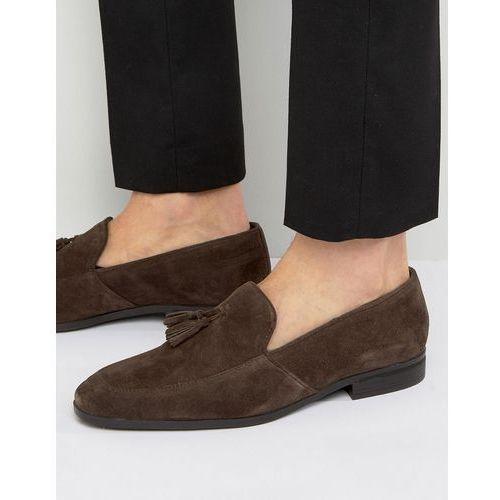 tassel loafers in brown suede - brown, Dune