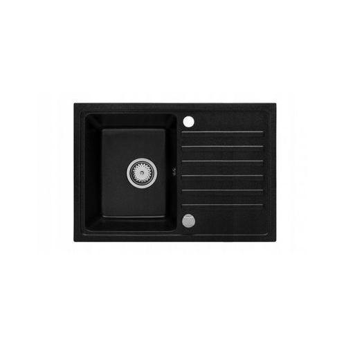 Zlewozmywak zlew granitowy nexo + bateria a4 czarny czarny czarny marki Teknoven