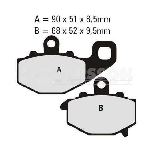 Klocki hamulcowe EBC (2 szt.) FA192HH 4101137 Kawasaki KLE 650, ZX-10R, ZZR 600