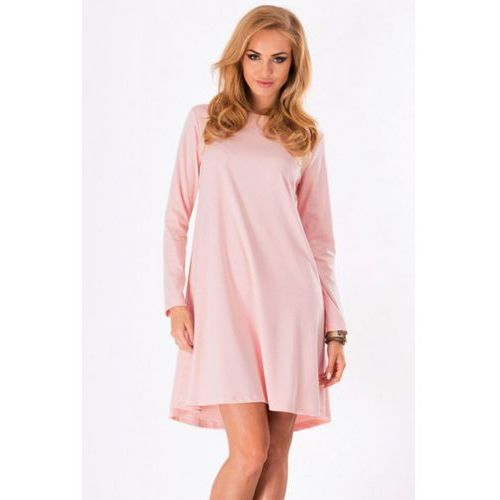 Sukienka model m123 powder pink, Makadamia