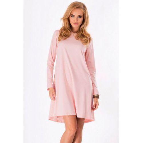 Sukienka model m123 powder pink marki Makadamia