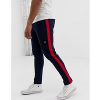 core slim fit joggers with leg stripe - grey, Jack & jones, XS-XL