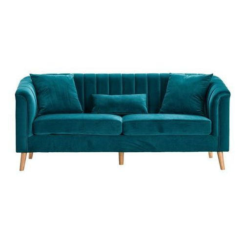 Dekoria Sofa Meriva Velvet sea green 3os., 200×80×85cm, kolor zielony