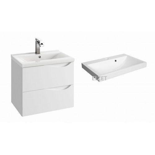 DEFRA szafka Murcia D60 biały połysk + umywalka Olex 60 144-D-06004+2012, 144-D-06004.2012