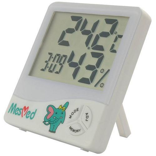 Mesmed wilgotnościomierz z funkcją termometru i zegara mm 777