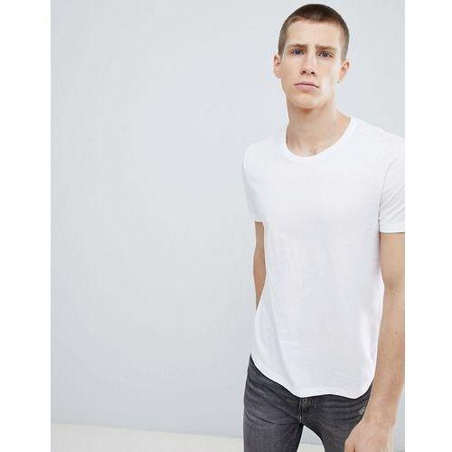 longline t-shirt in white with crew neck - white, Esprit, S-XXL