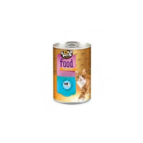 food for cat puszka,wołowina 410g- rób zakupy i zbieraj punkty payback - darmowa wysyłka od 99 zł marki Lolo pets