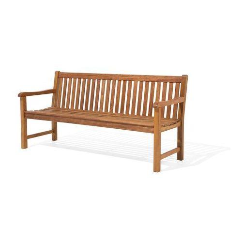 Ławka ogrodowa drewniana 180 cm poducha grafitowa JAVA (4260586357240)