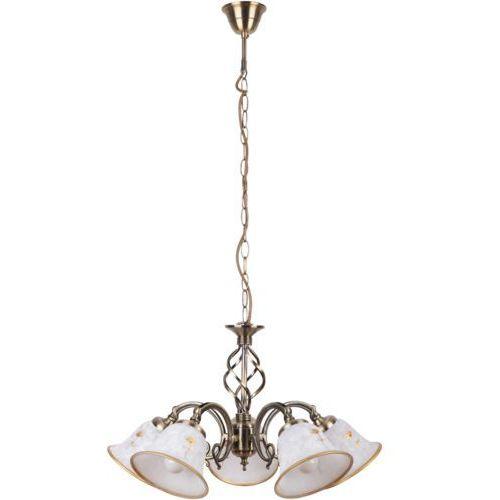 Lampa wisząca Rabalux Art Flower 5x40W E14 brąz 7175 (5998250371757)