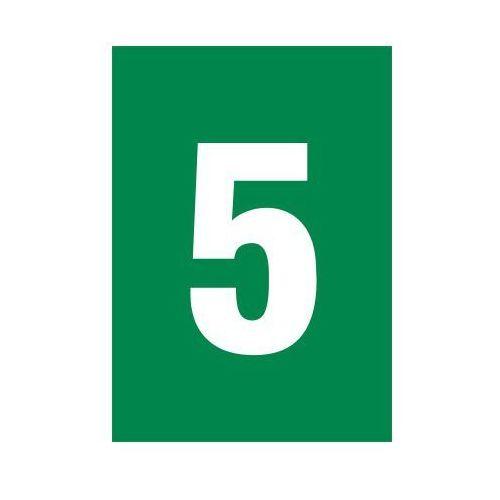 OKAZJA - Cyfra 5 (biały/zielony) - produkt z kategorii- Znaki informacyjne i ostrzegawcze