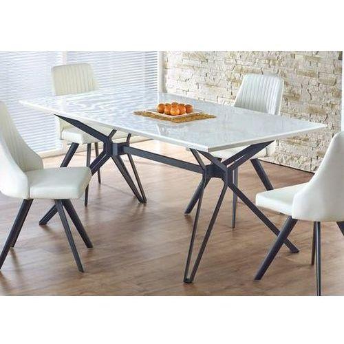Stół pascal z lakierowanym blatem i metalową ramą marki Halmar