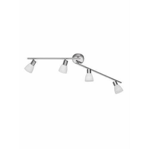 Trio carico lampy sufitowe listwy led nikiel matowy, 4-punktowe - dworek/vintage - obszar wewnętrzny - carico - czas dostawy: od 3-6 dni roboczych (4017807284966)