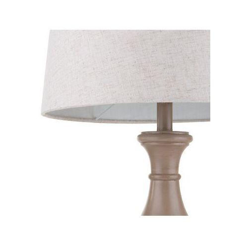 Beliani Lampa stołowa brązowa-beżowa tuddi (4260624115436)