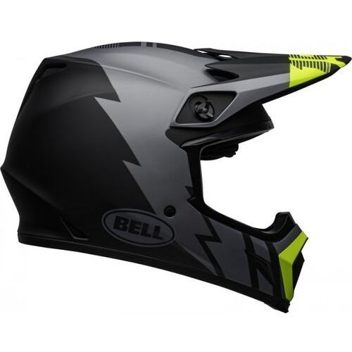 kask off-road mx-9 strike matt grey/bl/hi viz marki Bell
