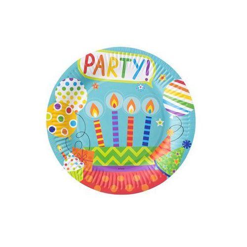 Talerzyki papierowe Urodzinowe świeczki 23 cm (6 szt), TALPAP/9801-5