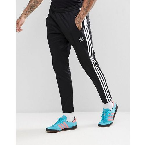 Adidas originals adicolor beckenbauer joggers in skinny fit in black cw1269 - black