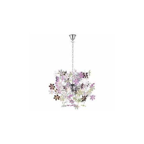 Trio RL Flower R10014017 lampa wisząca zwis 4x40W E14 chrom / wielokolorowy (4017807233988)