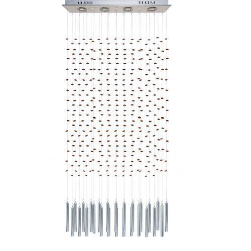 Lampa wisząca zone z brązowymi krzyształkami, 8293 br marki Sinus