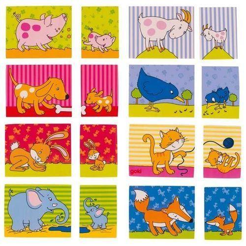 Memo gra zwierzęca rodzina marki Goki