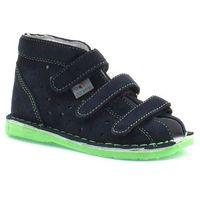 Dziecięce buty profilaktyczne Danielki TX105/115 Granat Fluoz - Zielony ||Granatowy