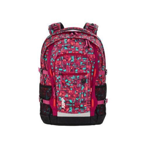 4YOU BTS Plecak szkolny Jump - 331-49 Geometric Red, kolor czerwony