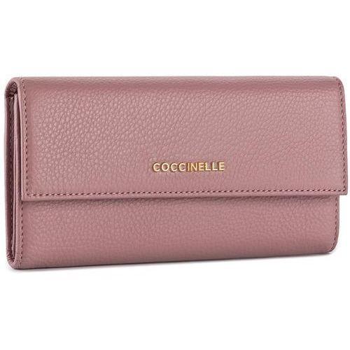 Coccinelle Duży portfel damski - bw5 metallic soft e2 bw5 11 46 01 milkshake 093