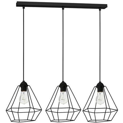 Luminex Lampa wisząca zwis żyrandol alma 3x60w e27 czarna 8968