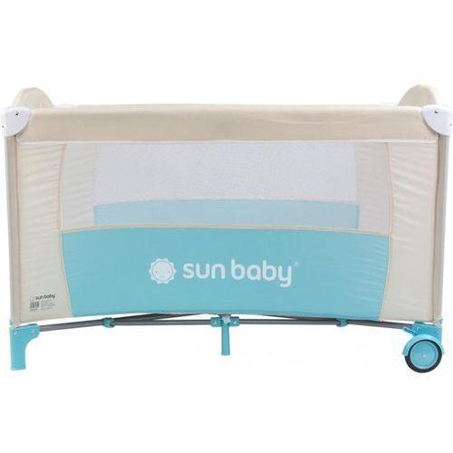 Łóżeczko jednopoziomowe sweet dreams turkusowe sd707/st marki Sun baby