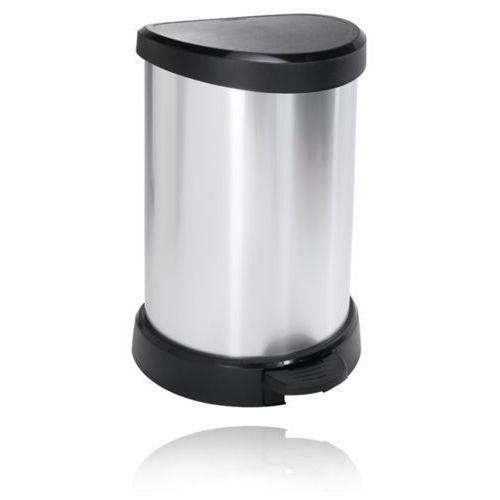 Curver Kosz na śmieci  metalizowany 20l - czarny/srebrny metalizowany (3253922120005)