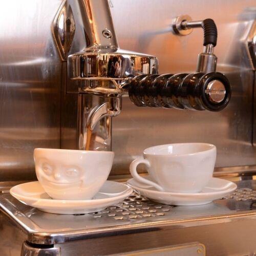 58Products - Filiżanka do espresso - zadąsana buźka - biała - 0,1 l