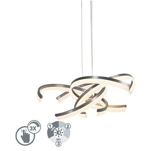 Designerska lampa wisząca stal 3 stopnie ściemnialne wraz z diodą led - friz marki Honsel