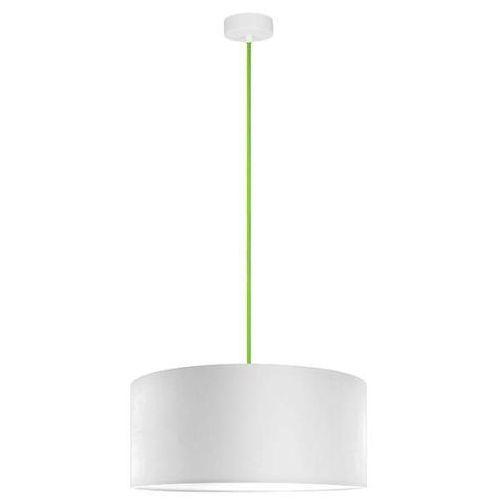 Klasyczna LAMPA wisząca MIKA XL1/S/WHITE Sotto Luce abażurowa OPRAWA okrągła biała, kolor Biały