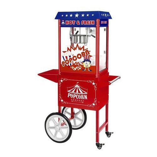 Royal catering Maszyna do popcornu  rcpw-16.1 z wózkiem 1600w