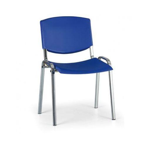 Krzesło konferencyjne Smile, niebieski - kolor konstrucji chrom
