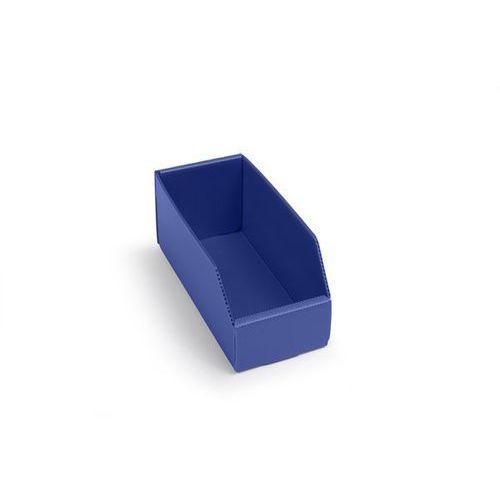 Skrzynki regałowe z tworzywa, składane, dł. x szer. x wys. 225x100x100 mm, niebi marki K bins limited
