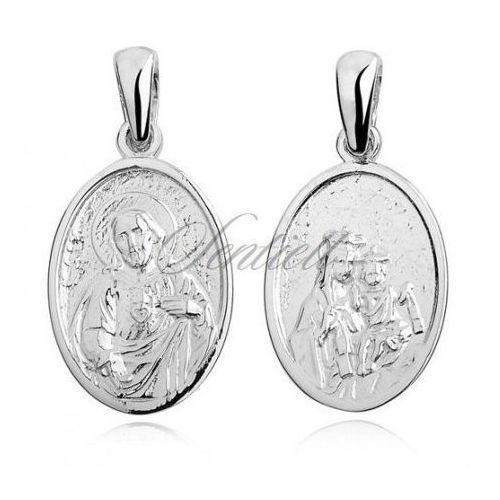 Silver (925) pendant Jesus Christ / Scapular Mary - KS0050
