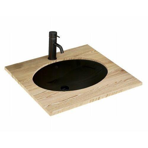 Rea Nel Black umywalka 47x39 cm podblatowa owalna czarna REA-U1023 (5902557356706)