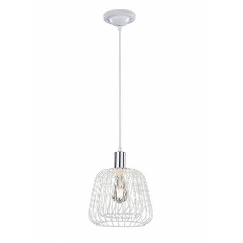 Trio sanna lampa wisząca chrom, biały, 1-punktowy - vintage/przemysłowy - obszar wewnętrzny - sanna - czas dostawy: od 3-6 dni roboczych (4017807298673)
