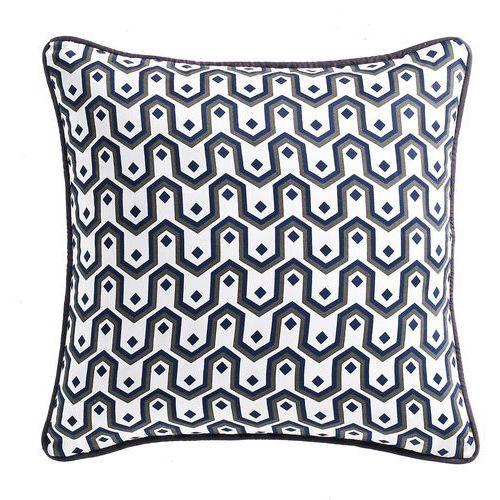 Wzorzysta poszewka na poduszkę z bawełnianej satyny, Selisa