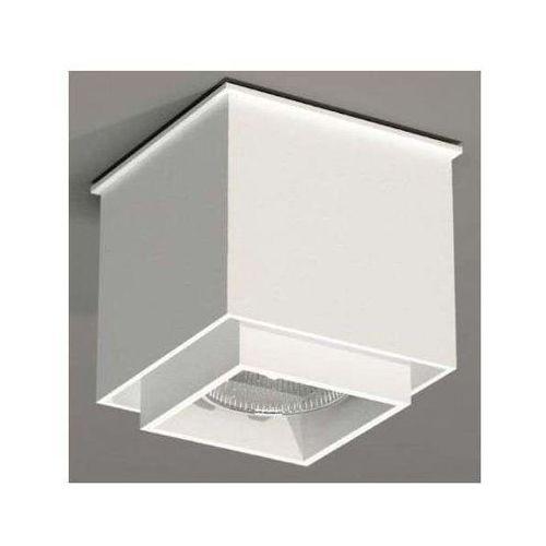 Downlight lampa sufitowa kazo 1107/gu10/bi natynkowa oprawa reflektorowa do łazienki kostka cube biała marki Shilo
