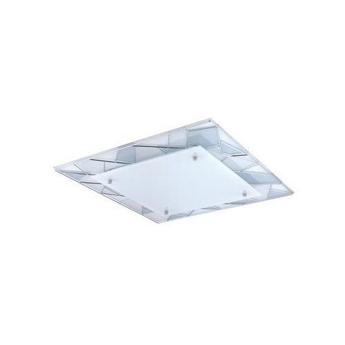 Eglo Plafon pancento 1 94746 lampa oprawa sufitowa 1x16w led chrom/biały