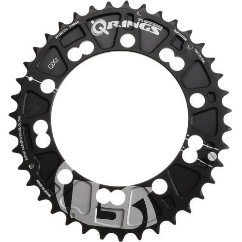 Rotor QX2 Q-Ring MTB Zębatka rowerowa 110mm zewn. czarny 38 zębów 2018 Zębatki przednie (8434366000787)