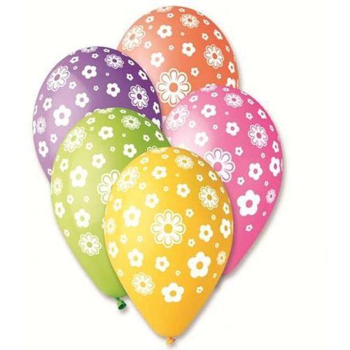 Godan Balony premium kwiatuszki 12` 5 szt. (8021886301823)