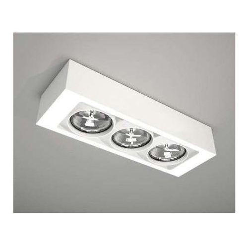 LAMPA sufitowa UTO 1145/GU10/BI Shilo natynkowa OPRAWA prostokątna biała ferreros, 1145/GU10/BI